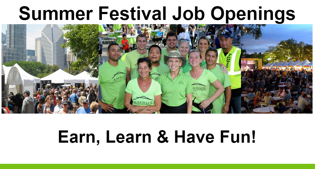 summer festival job openings
