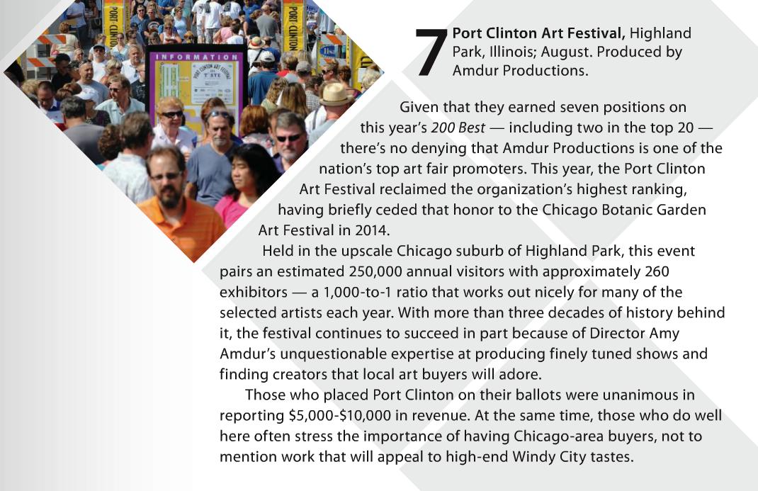 sunshine artist write up kudos on port clinton art festival