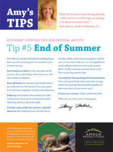 Amy's Tips - End of Summer