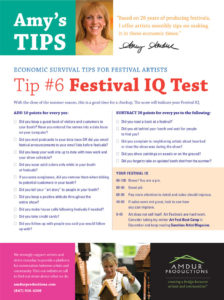 Amy's Tips - Festival IQ Test