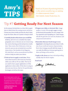 Amy's Tips - Getting Ready for Next Season