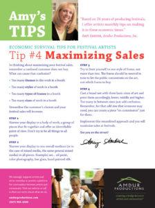 Amy's Tips - Maximizing Sales