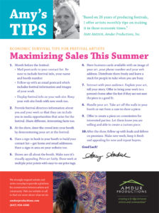 Amy's Tips - Maximizing Sales This Summer