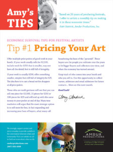 Amy's Tips - Pricing Your Art
