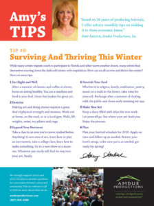 Amy's Tips - Surviving and Thriving This Winter