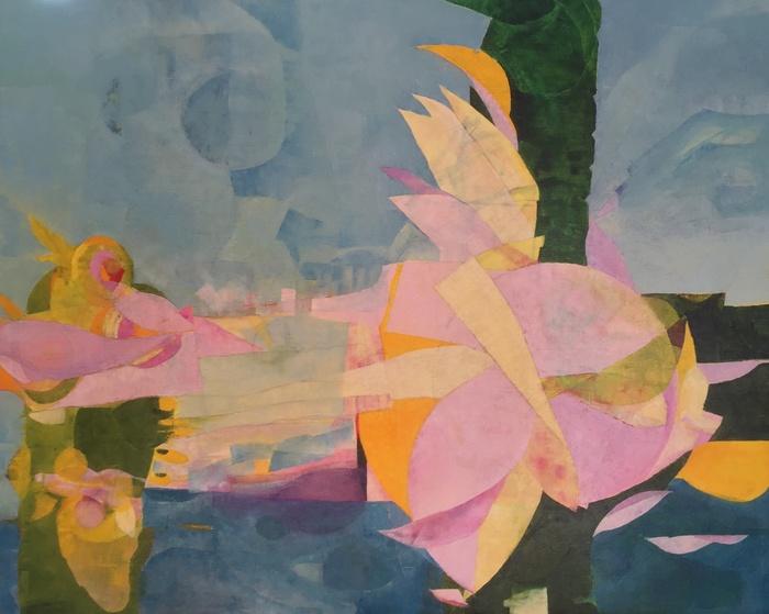 Midori Ueda-Okahana Painting: Mixed Media