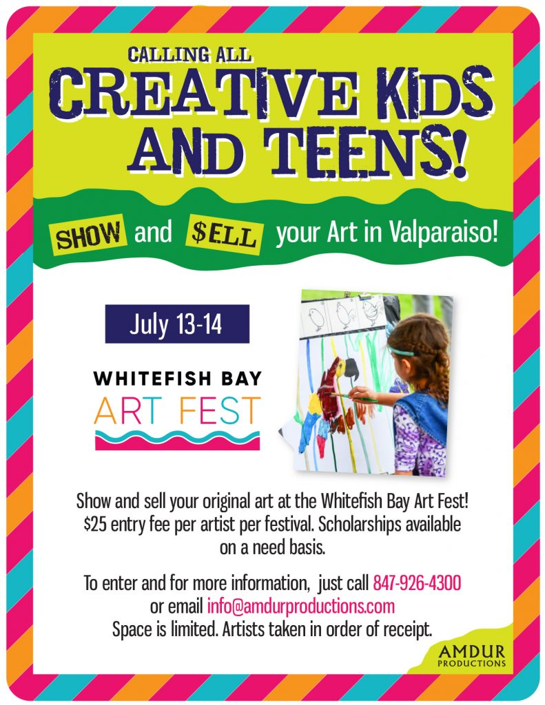 Call for Youth Artists for the Whitefish Bay Art Fest!